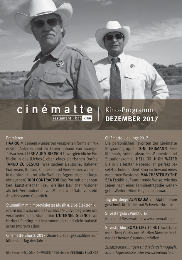 Cinematte Film Programm Dezember 2017