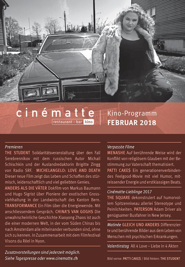 Cinematte Film Programm Februar 2018
