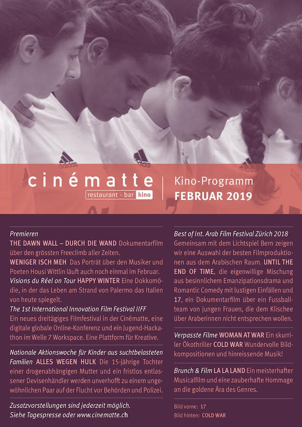 Cinematte Film Programm Februar 2019