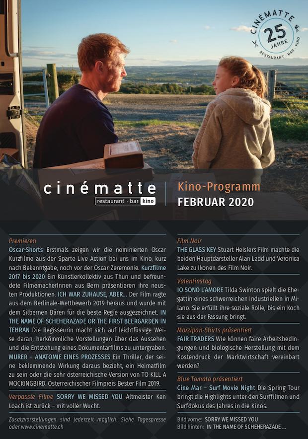 Cinematte Film Programm Februar 2020