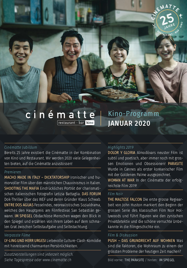 Cinematte Film Programm Januar 2020