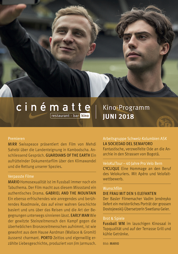 Cinematte Film Programm Juni 2018