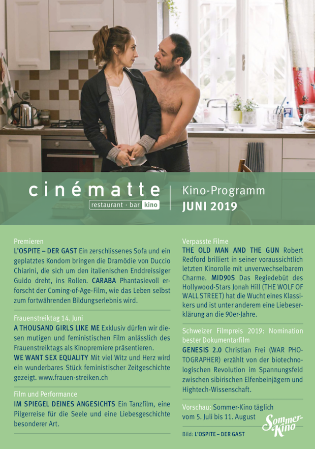 Cinematte Film Programm Juni 2019