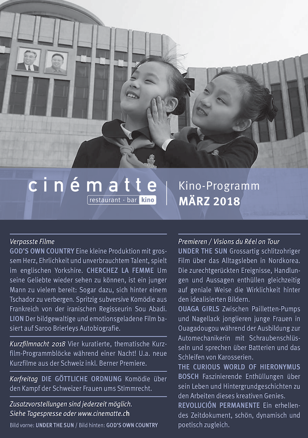 Cinematte Film Programm Maerz 2018