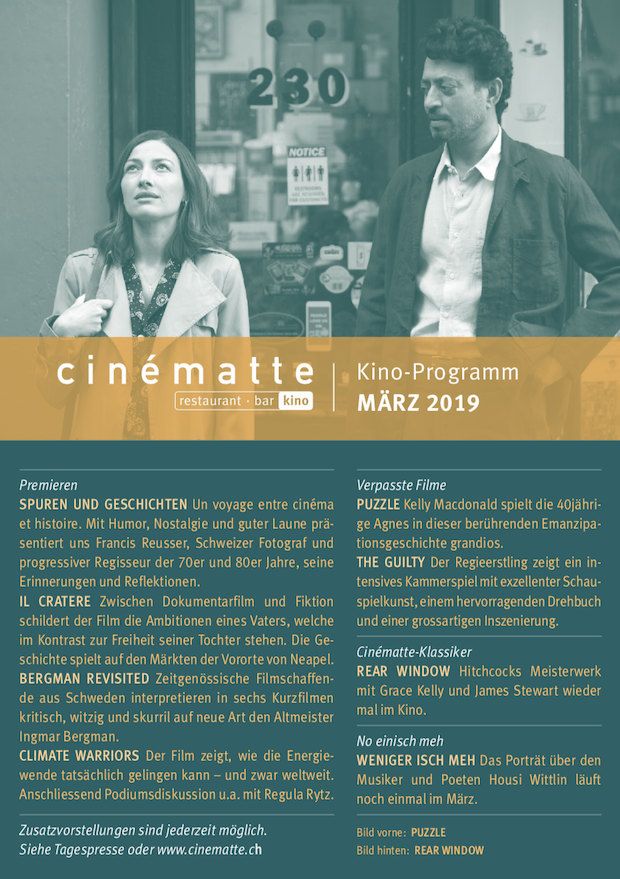 Cinematte Film Programm Maerz 2019