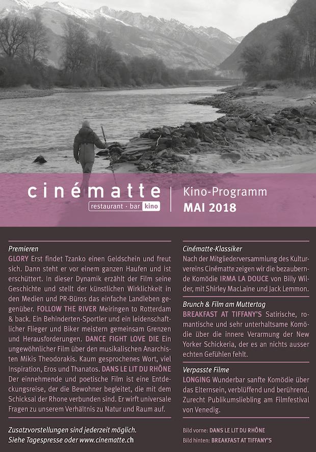 Cinematte Film Programm Mai 2018