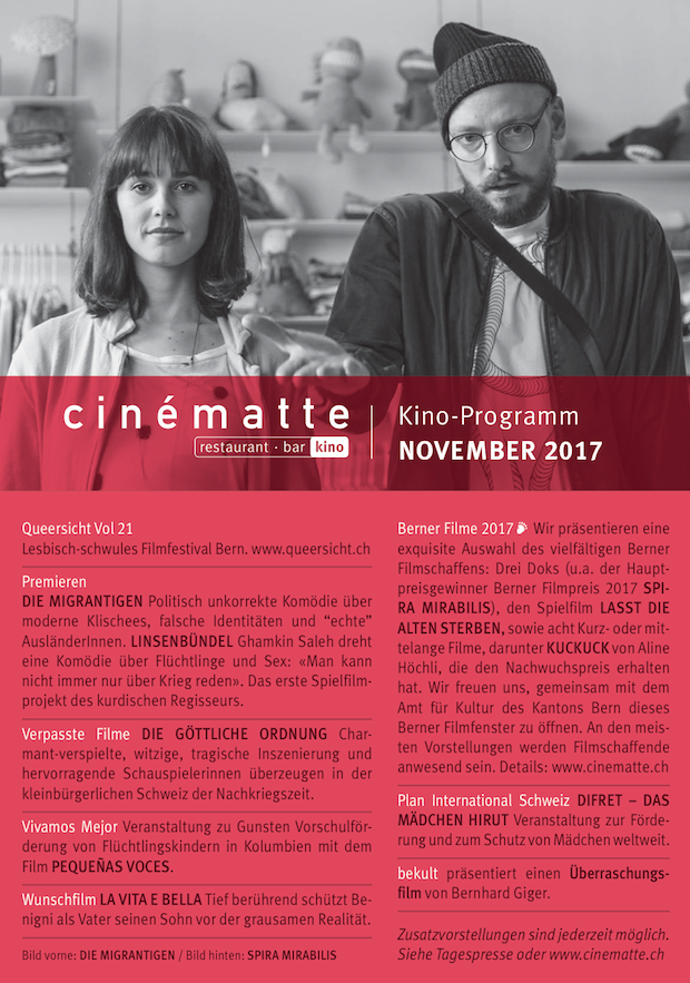 Cinematte Film Programm November 2017