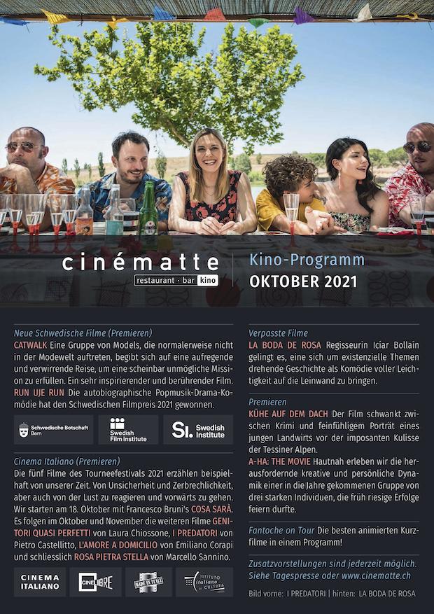 Cinematte Film-Programm Oktober 2021