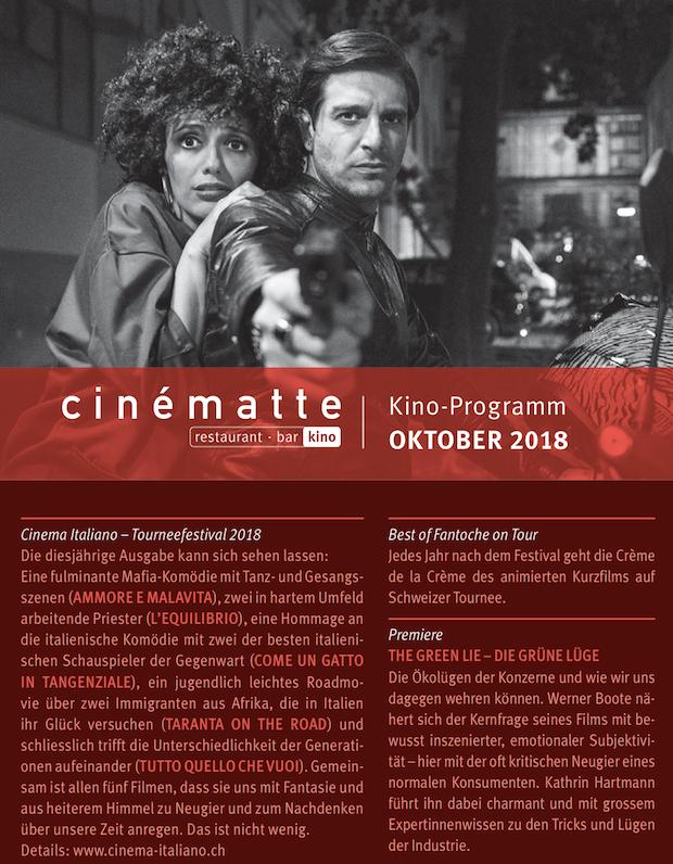 Cinematte Film Programm Oktober 2018
