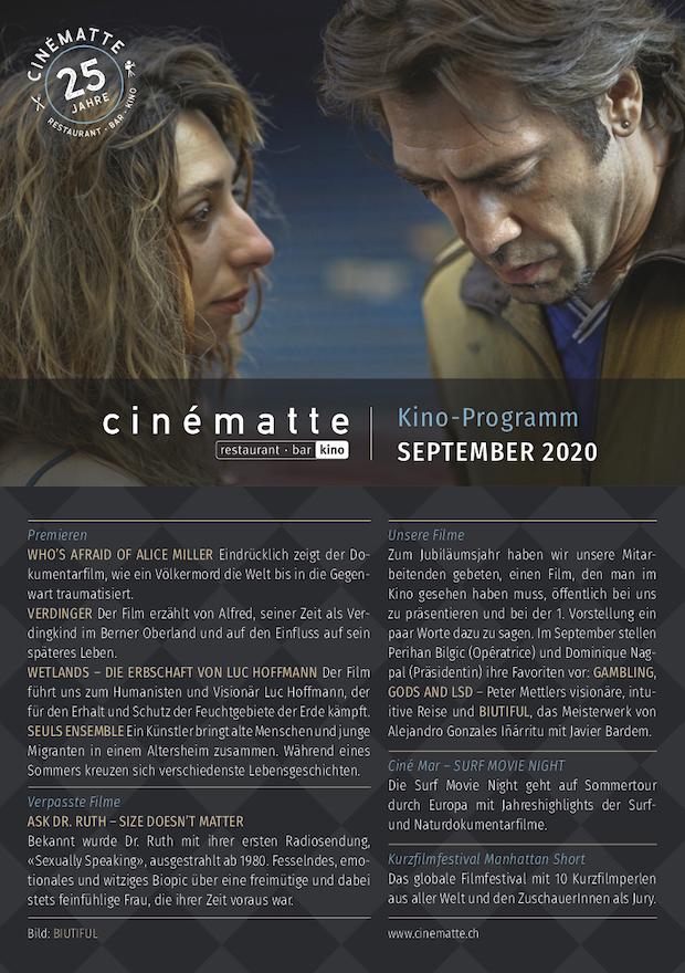 Cinematte Film Programm Juni 2019