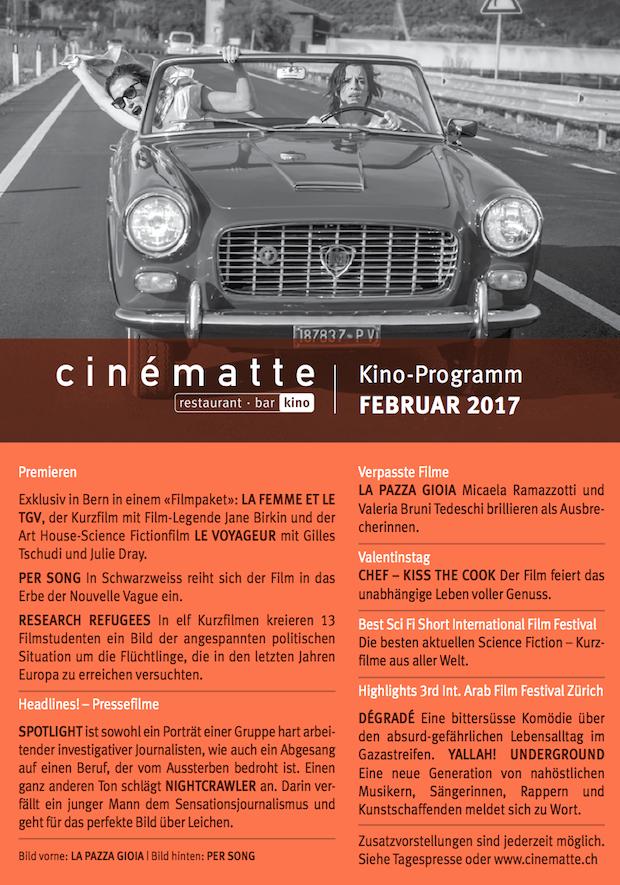 Kino Programm Cinematte Februar 2017