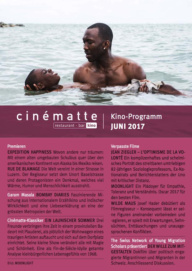 Kino Programm Cinematte Juni 2017