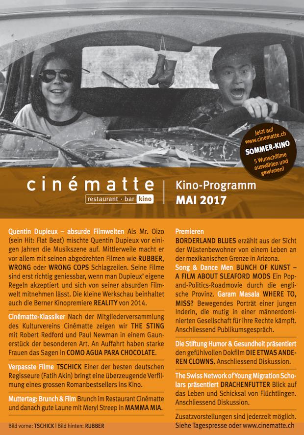 Kino Programm Cinematte Mai 2017