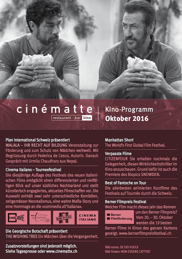 Kino Programm Cinematte Oktober 2016